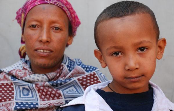 Mikiyas and his Mom, Tsehaye: EHE054